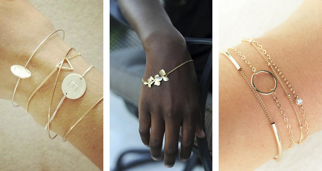 Resultado de imagem para  mix de pulseiras delicadas 2017