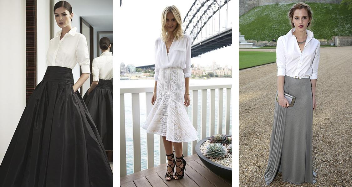 formas de usar camisa branca feminina