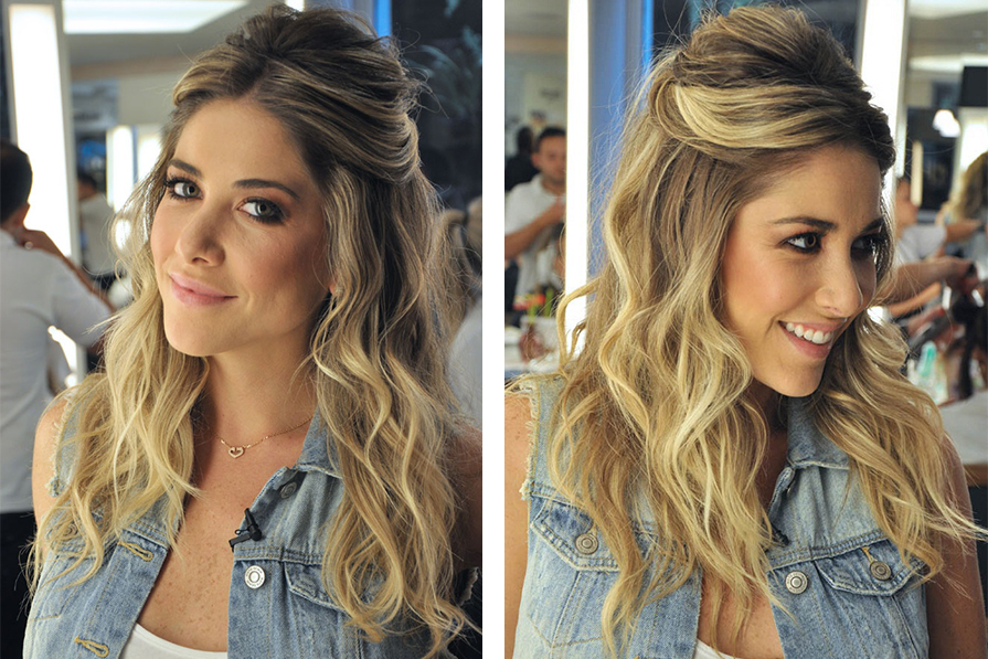 Penteados soltos para formatura cabelos longos