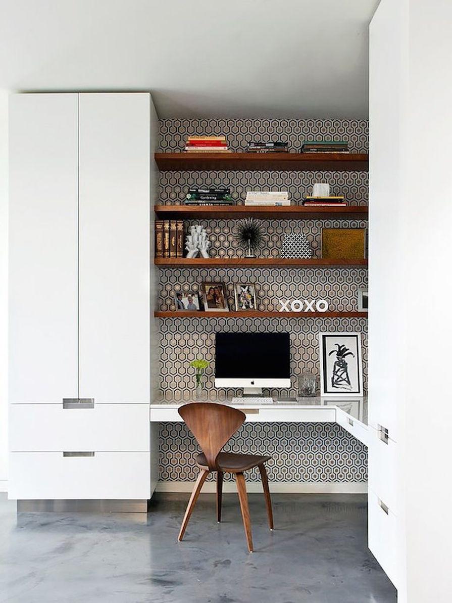 Como se organizar para trabalhar ou estudar em casa for Wallpaper home office ideas